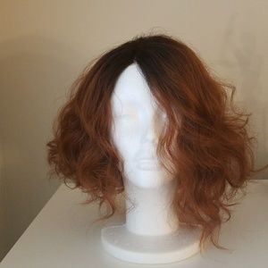 Brown-red ombre wig
